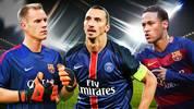 Marc-Andre ter Stegen, Zlatan Ibrahimovic, Neymar (v. l.): Wechselt einer noch die Fronten?