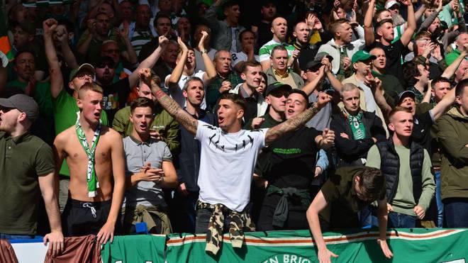Fans von Celtic Glasgow unterstützen ihr Team auch in Rom