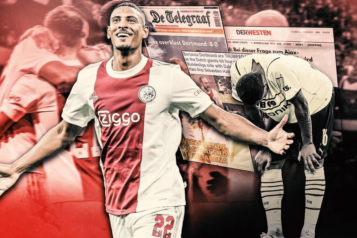 Dortmund kommt in der Champions League unter die Räder. Die niederländischen Medien feiern Ajax. Die Pressestimmen.