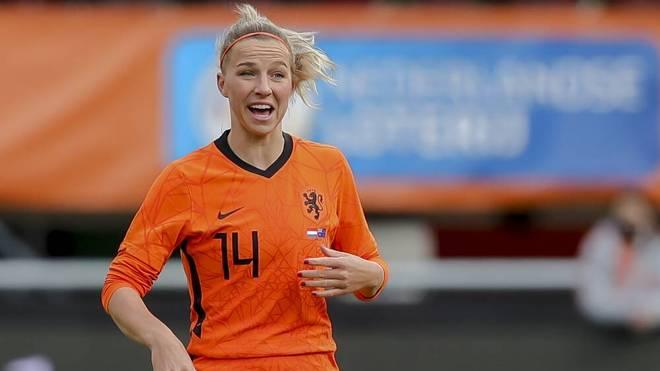 Jackie Groenen im Trikot der niederländischen Nationalmannschaft