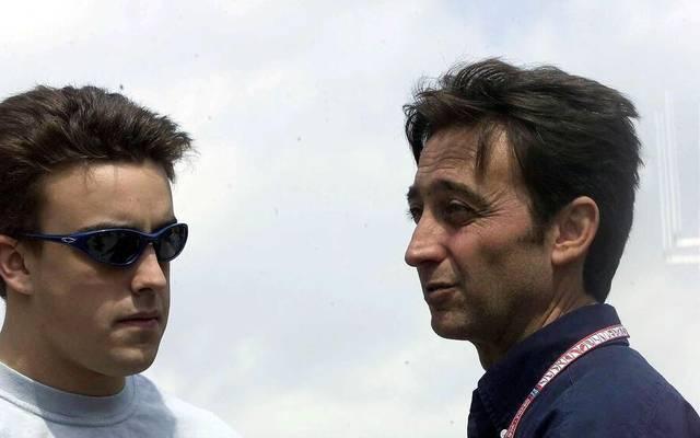 Fernando Alonso (l.) wurde von Adrian Campos entdeckt