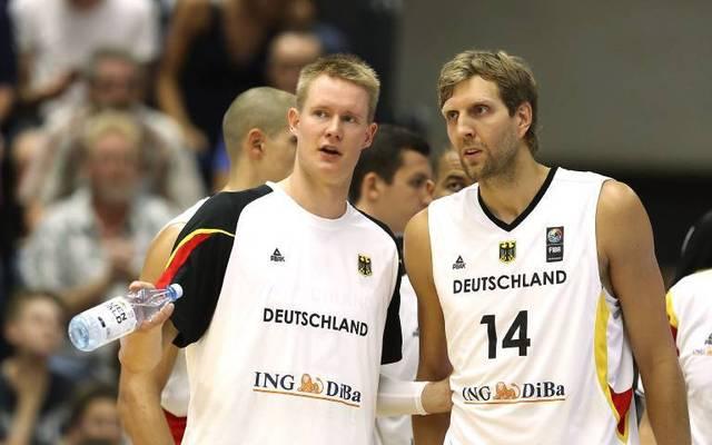Dirk Nowitzki und Robin Benzing spielten gemeinsam für Deutschland