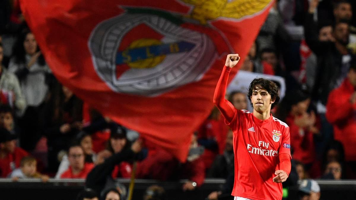 Joao Félix jubelt für Benfica Lissabon