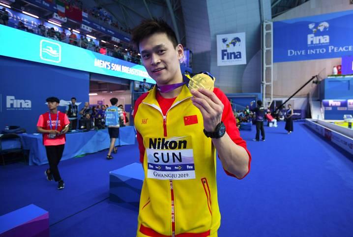 Der Chinese Sun Yang ist wohl der am meisten polarisierende Sportler bei der Schwimm-WM in Südkorea. Aufgrund seiner Vergangenheit mit zahlreichen Skandalen ist er bei vielen Konkurrenten und Fans in Ungnade gefallen
