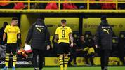 DORTMUND, GERMANY - NOVEMBER 22:  Paco Alcacer of Borussia Dortmund is injured and goes off during the Bundesliga match between Borussia Dortmund and SC Paderborn 07 at Signal Iduna Park on November 22, 2019 in Dortmund, Germany. (Photo by Jörg Schüler/Bongarts/Getty Images)