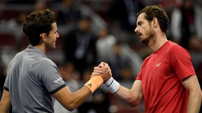Andy Murray (r.) musste Dominic Thiem geschlagen geben
