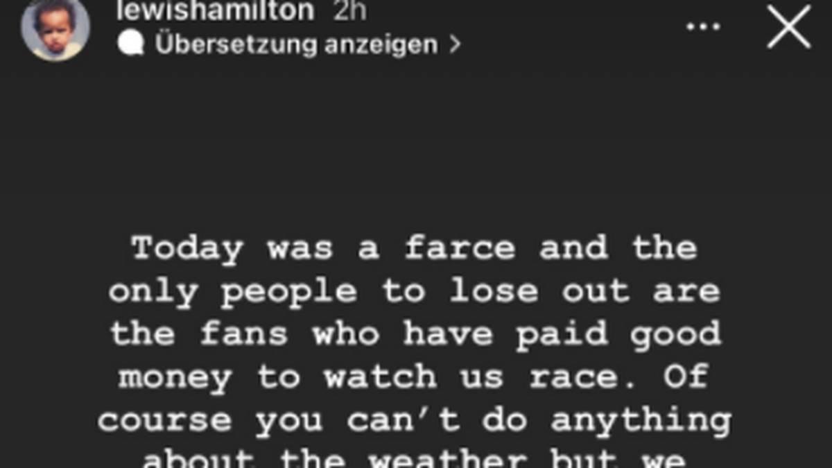 Lewis Hamilton machte seinem Ärger bei Instagram Luft