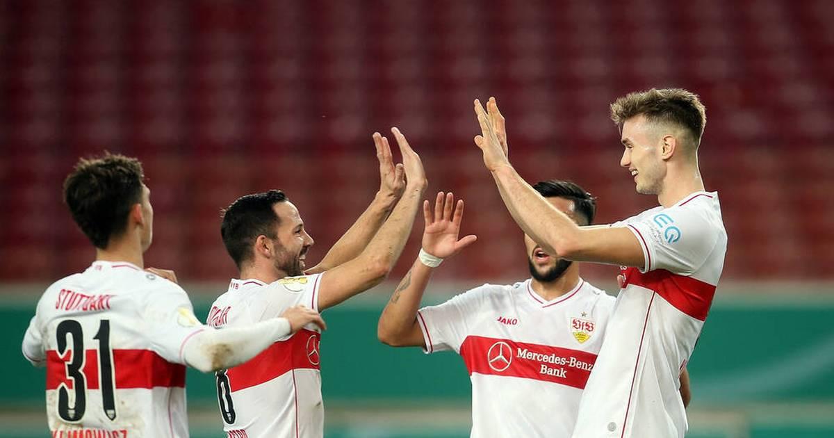 DFB-Pokal: VfB Stuttgart - SC Freiburg 1:0 - Klimowicz kotzt