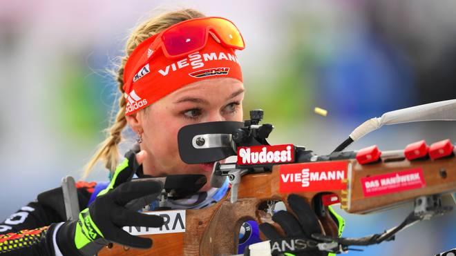Denise Herrmann wechselte vom Langlauf zum Biathlon
