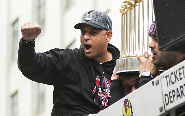 Coach Alex Cora von den Boston Red Sox kommt nicht ins Weiße Haus