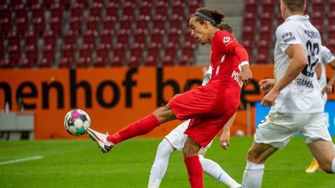Yussuf Poulsen erzielte beim 2:0 ein echtes Traumtor