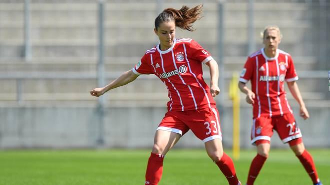 Sara Däbritz brachte den FC Bayern in Duisburg in Führung