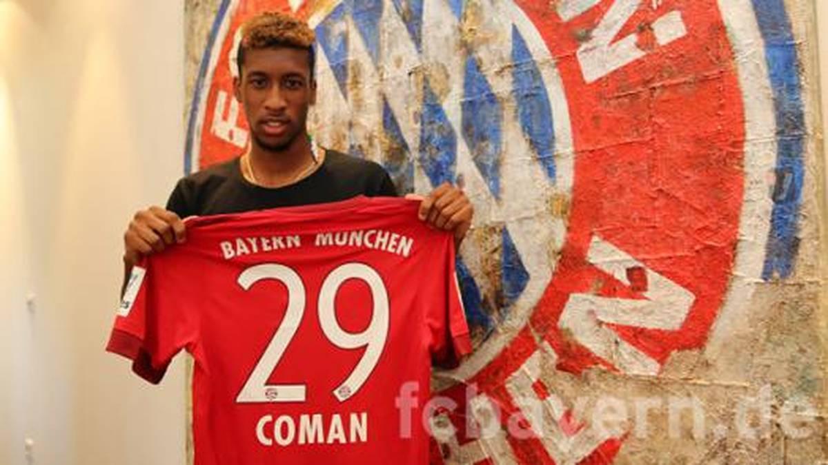 Kingsley Coman erhält bei den Bayern die Rückennummer 29