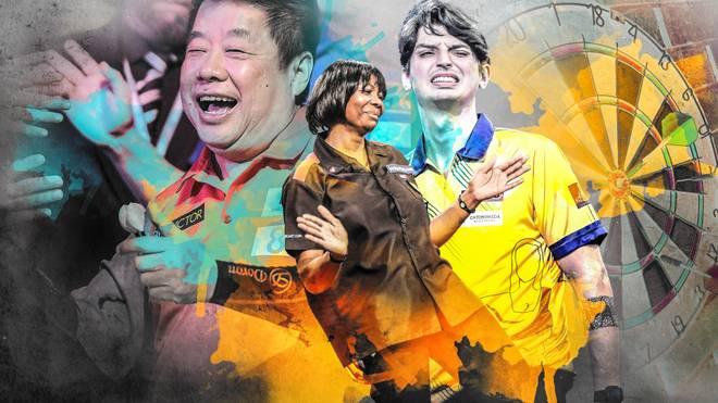 Auch bei der PDC Darts-WM 2021 sorgen wieder zahlreiche Darts-Exoten für Stimmung