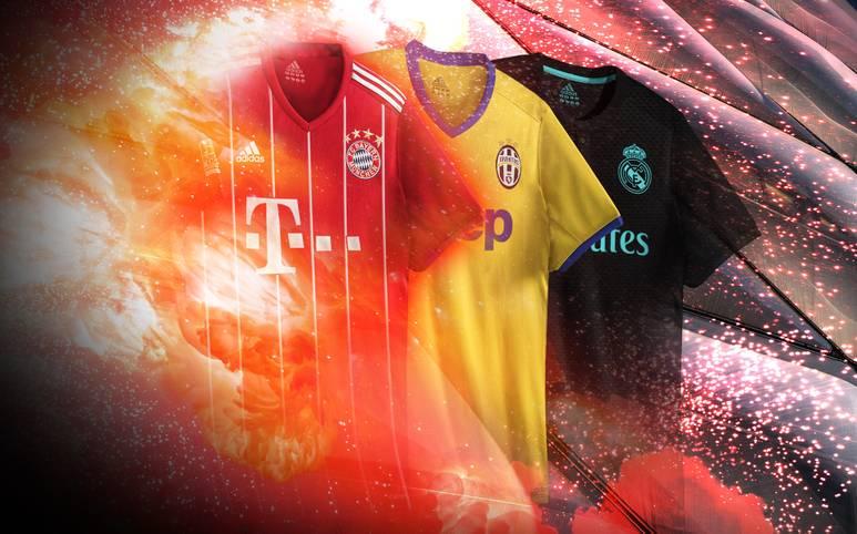 Überraschende Farben, neue Designs - auch zur neuen Saison haben sich die Vereine in Sachen Trikots einiges einfallen lassen. SPORT1 zeigt die neuen Kleider der Stars