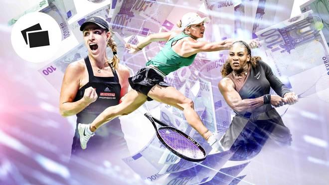 Kerber, Halep, Williams - SPORT1 zeigt die Geldrangliste der WTA