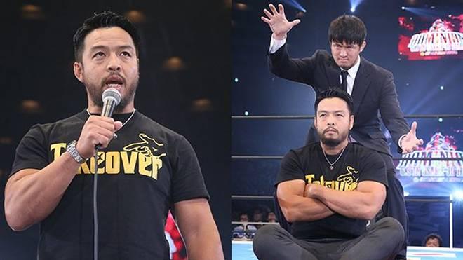 KENTA alias Hideo Itami (l.) geht nach seinem WWE-Aus nun zu NJPW