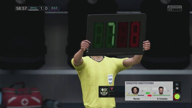 Auswechslung FIFA18