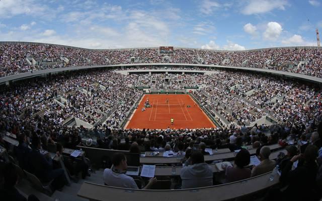 Der Court Philippe Chatrier, fasst 15.500 Zuschauer