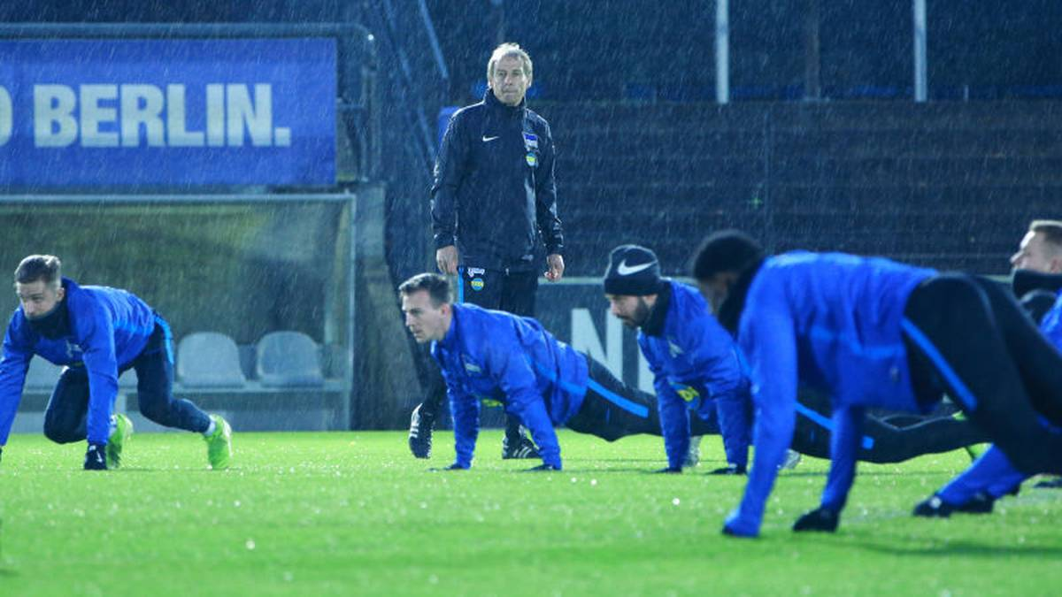 BERLIN, GERMANY - NOVEMBER 27: Juergen Kliensmann of Hertha Berlin during a training session on November 27, 2019 in Berlin, Germany. (Photo by Christian Marquardt/Bongarts/Getty Images)