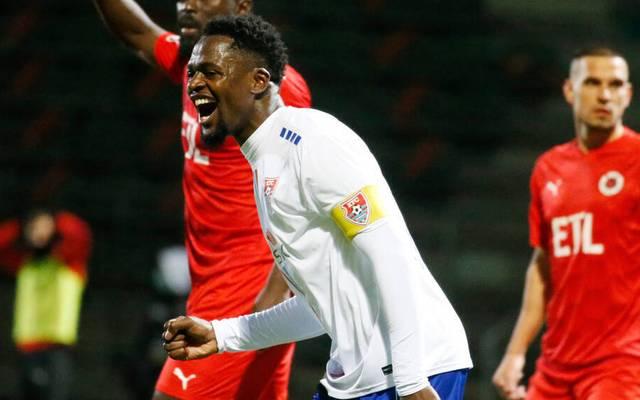 Assani Lukimya brachte den KFC Uerdingen gegen Viktoria Köln in Front