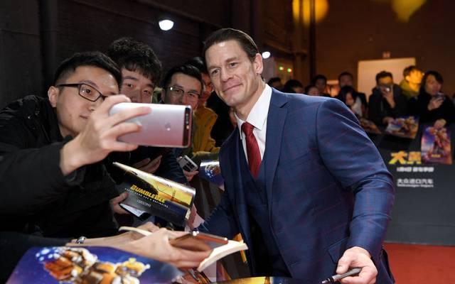 John Cena bei einem Promo-Termin für den Film Bumblebee 2018 in China