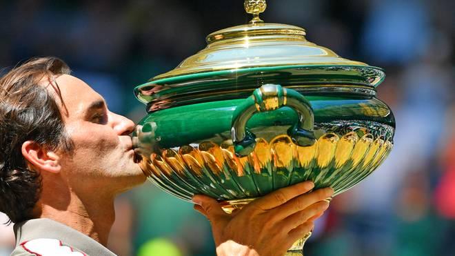 Roger Federer hat das Turnier in Halle zum 10. Mal gewonnen