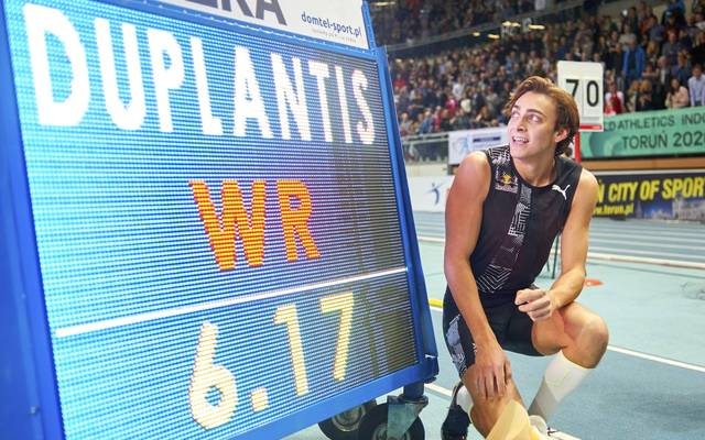 Armand Duplantis hat einen Weltrekord im Stabhochsprung aufgestellt