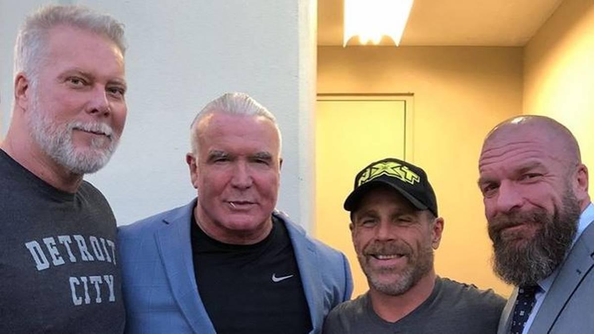 Kevin Nash, Scott Hall, Shawn Michaels und Triple H heute