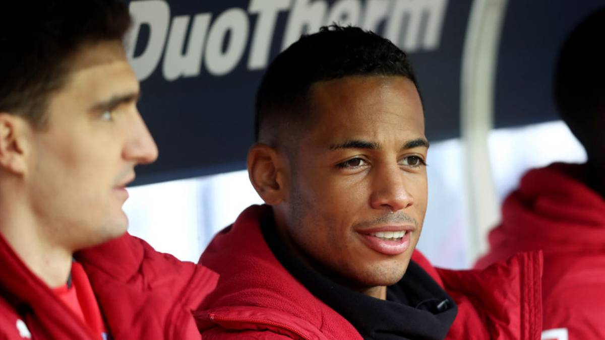 COLOGNE, GERMANY - MARCH 04: Dennis Aogo of Stuttgart sits on the bench during the Bundesliga match between 1. FC Koeln and VfB Stuttgart at RheinEnergieStadion on March 4, 2018 in Cologne, Germany. (Photo by Christof Koepsel/Bongarts/Getty Images)