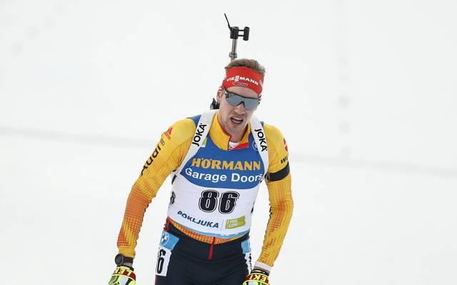 Johannes Kühn beendete den Sprint am Samstag in Nove Mesto nicht