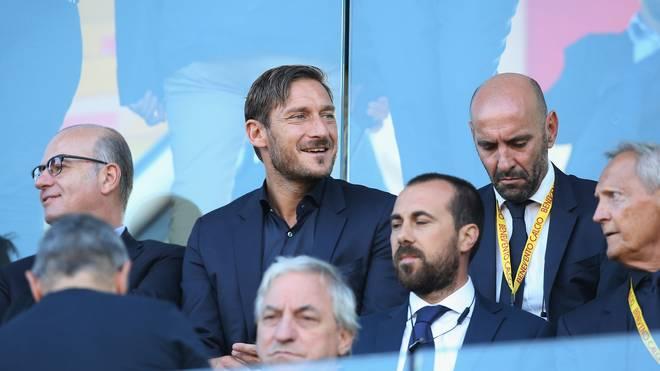 Francesco Totti beim Serie-A-Spiel der AS Roma gegen Benevento Calcio