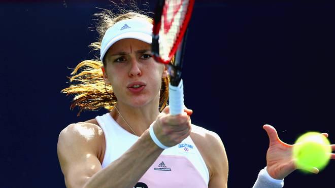 Andrea Petkovic setzte sich gegen die Kasachin Sarina Dijas durch