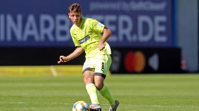 Leon Jensen traf für den FSV Zwickau doppelt gegen den FC Bayern II