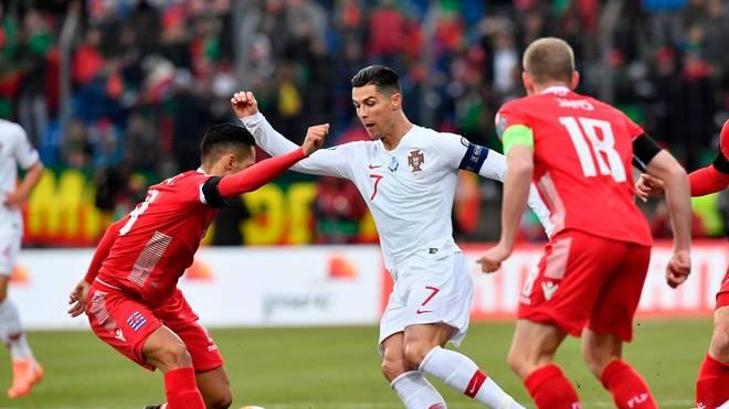Cristiano Ronaldo machte in Luxemburg das zweite Tor für Portugal