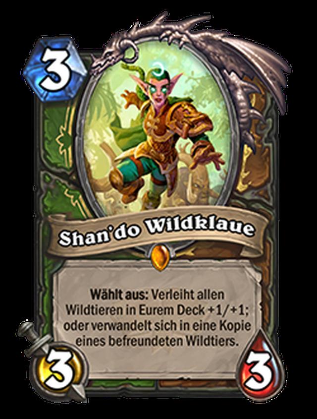 Shan'do Wildklaue, eine der 40 Doppelklassenkarten der neuen Erweiterung