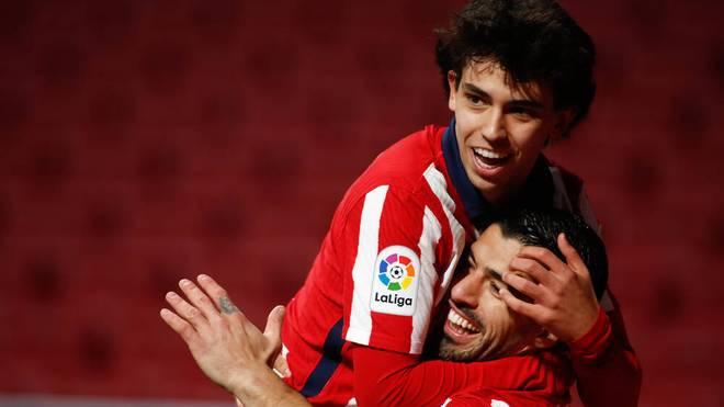 Joao Félix (L) und Luis Suárez harmonieren auf dem Rasen gut