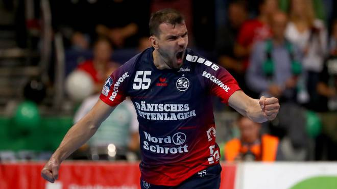 Michael Jurecki erzielte sechs Tore für die SG Flensburg-Handewitt