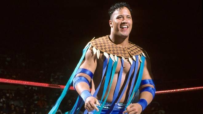 """Ein früher Dwayne """"The Rock"""" Johnson bei WWE 1996"""