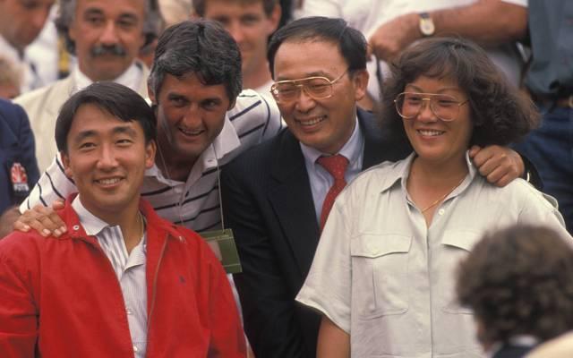 Michael Changs Eltern Joe und Betty Chang (r.) fieberten 1989 mit