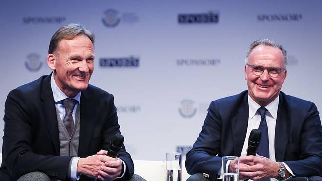 Karl-Heinz Rummenigge (r.) und der FC Bayern sind an Kai Havertz und Leroy Sané interessiert