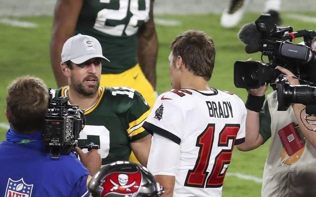 Aaron Rodgers und Tom Brady treffen am Sonntag aufeinander