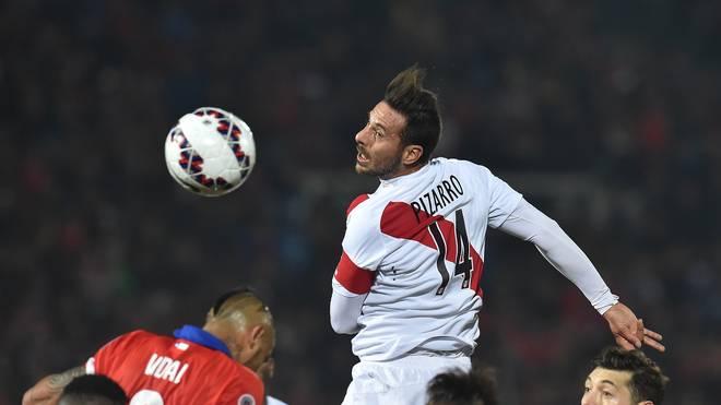 Claudio Pizarro beim Halbfinale der Copa mit Peru gegen Chile