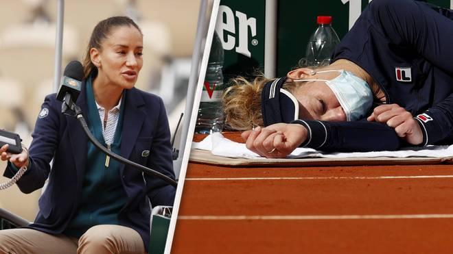 Ihr Rücken und ein Streit mit der Schiedsrichterin machten Laura Siegemund Probleme