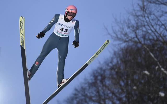 Karl Geiger landete beim Weltcup in Willingen auf dem ersten Platz