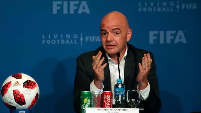 FBL-FIFA-QATAR-CONFERENCE-INFANTINO