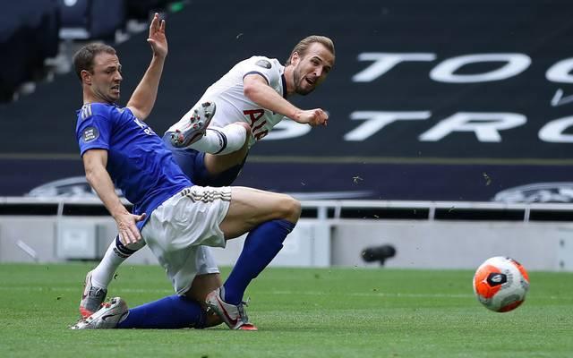 Tottenhams Stürmerstar Harry Kane (r.) war gegen Leicester der Matchwinner