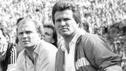 Im Viertelfinale 1988 heißt das Duell wieder Bayern gegen Real. FCB-Coach damals: Jupp Heynckes. Die Münchner siegen im Hinspiel mit 3:2, scheiden aber aufgrund der 0:2-Pleite im Rückspiel in Madrid aus