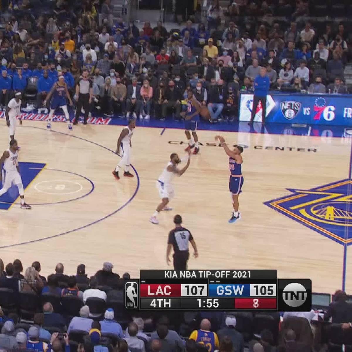 Dreier vom Logo! Curry-Gala gegen Clippers