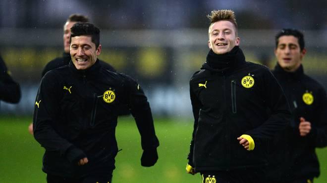 Robert Lewandowski und Marco Reus spielten gemeinsam beim BVB